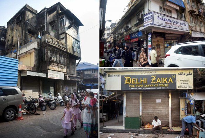Combo pictures of Dawood Ibrahim's three properties Damarwala, Shabnam Guest House and Delhi Zaika hotel, which were auctioned under Smugglers and Foreign Exchange Manipulators (SAFEMA) Forfeiture of Properties Act at the IMC Chamber in Mumbai on Tuesday. PTI Photo by Mitesh Bhuvad