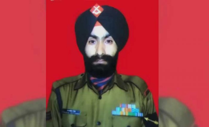 In picture: Havildar Charanjeet Singh. ANI photo.