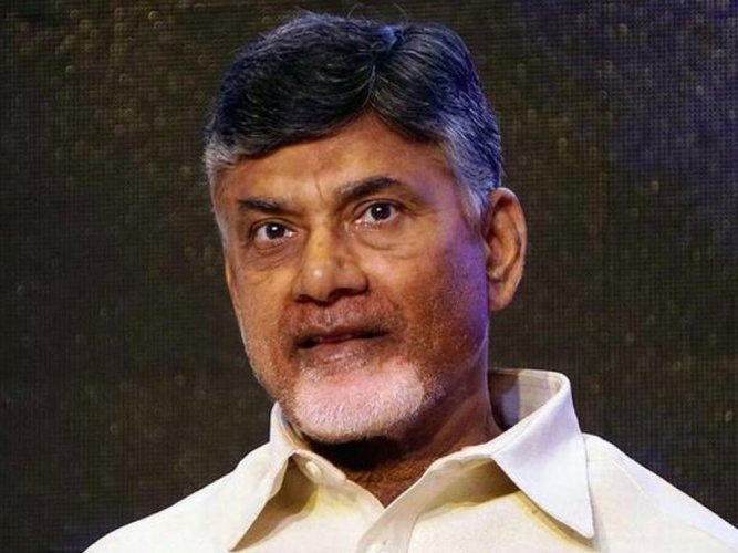 Reminding the Centre of its responsibility to help the residual state of Andhra Pradesh till it is developed to be at par other southern states, Chief Minister and Telugu Desam Party president Nara Chandrababu Naidu sat on a one-day hunger strike at the Indira Gandhi stadium in Vijayawada on Friday. PTI file photo