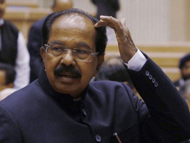 Senior Congress leader M Veerappa Moily