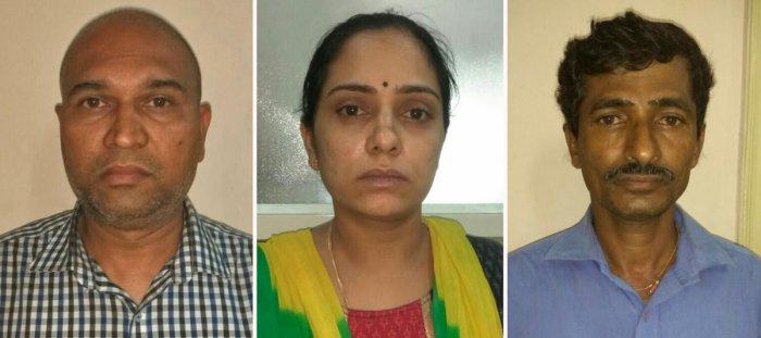 Balaji, his wife Saritha (37) and their associates Vijay Kumar (49)