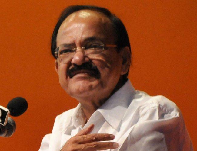 Rajya Sabha Chairman M Venkaiah Naidu. DH File Photo
