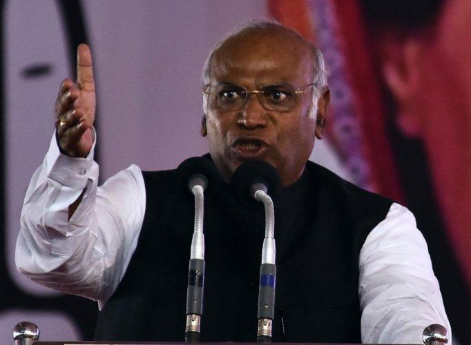 Senior Congress leader Mallikarjun Kharge
