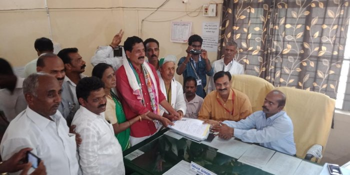 JD(S) Candidate from Kadur Y S V Datta filed his nomination papers on Tuesday.