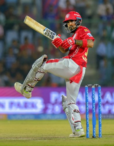 IN FINE TOUCH: The in-form Kings XI Punjab opener K L Rahul will be a big threat to Sunrisers Hyderabad. PTI