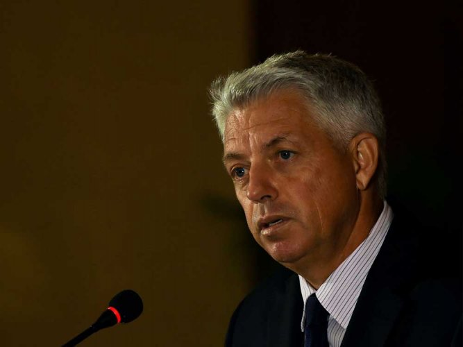 """ICC Chief Executive Dave Richardson said the global body has """"unanimously agreed"""" that the 2021 meet in India would now be a 16-team event in the shortest format. File Photo"""
