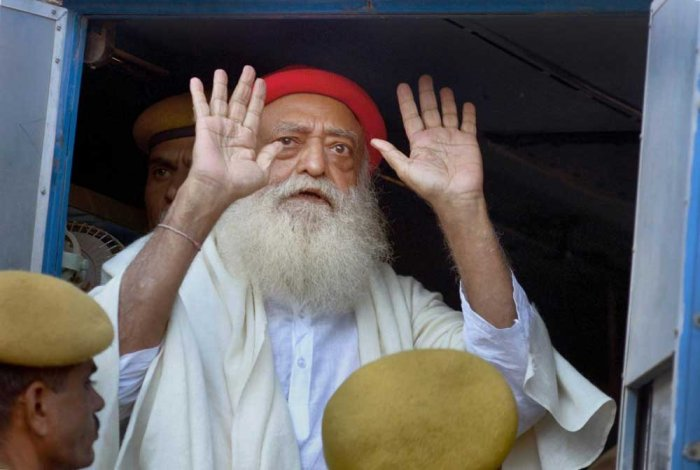 Asaram Bapu was convicted on Wednesday to a life term for the rape of a 16-year-old girl. PTI Photo