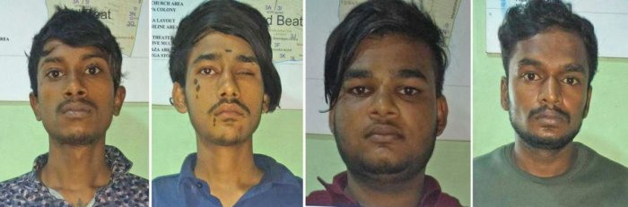 The city police arrested four persons who released on bail in a murder case and took to robbery in and around Marathahalli area. The arrested are Shanmugam Sundar, Vishal, Baskar and Yuvraja.