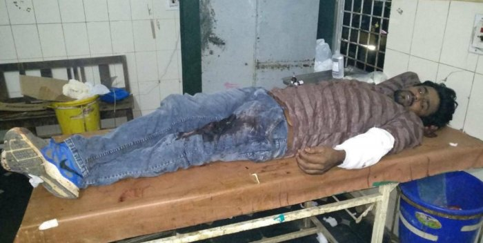 JD(S) party worker Rama Reddy who was killed in a clash with Congress workers on Thursday night. DH Photo.
