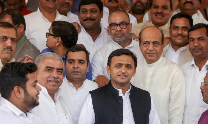 """Hitting out at the Samajwadi party, Tripathi said, """"Ever since Akhilesh Yadav replaced his father (Mulayam Singh Yadav) as the SP president, the party has been weakened."""" PTI File Photo"""