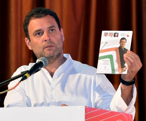 It is for the first time that an AICC chairperson has released the party's state manifesto, that too outside the state headquarters (Bengaluru).