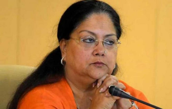 CM Vasundhara Raje. PTI file photo