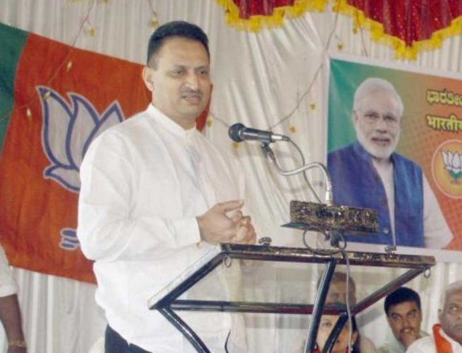 In picture: Union Minister Anantkumar Hegde. DH Photo.