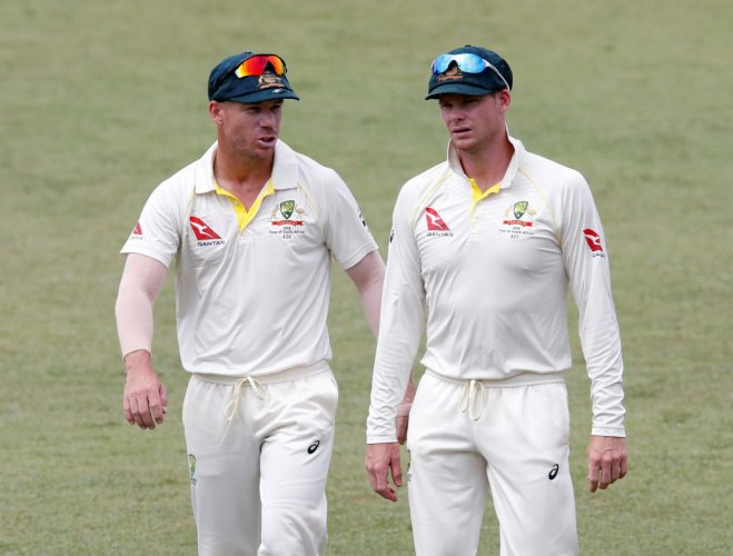 Steve Smith and David Warner were banned by Cricket Australia after the sandpaper scandal. REUTERS