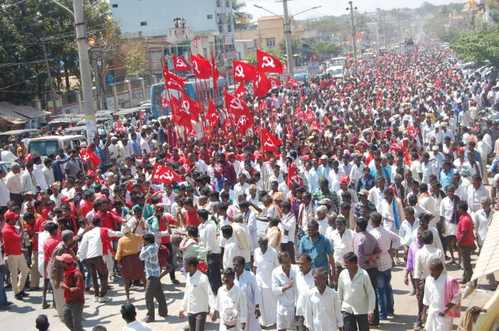 A senior CPM leader said one could find Dalits and Muslims in leadership positions at the lower levels. file photo