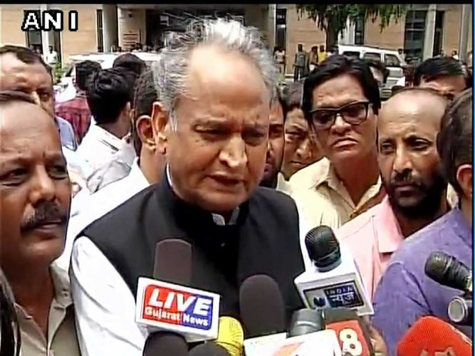 In picture: Former chief minister Ashok Gehlot. ANI file photo.