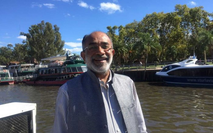 In picture: Tourism Minister K J Alphons. Photo via Twitter.
