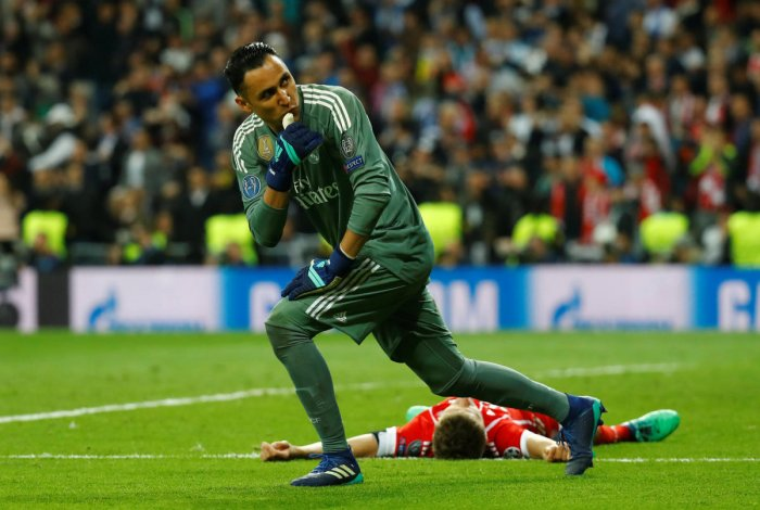 Real Madrid goalkeeper Keylor Navas came in for special praise for producing a series of outstanding saves against Bayern Munich in the second leg. REUTERS