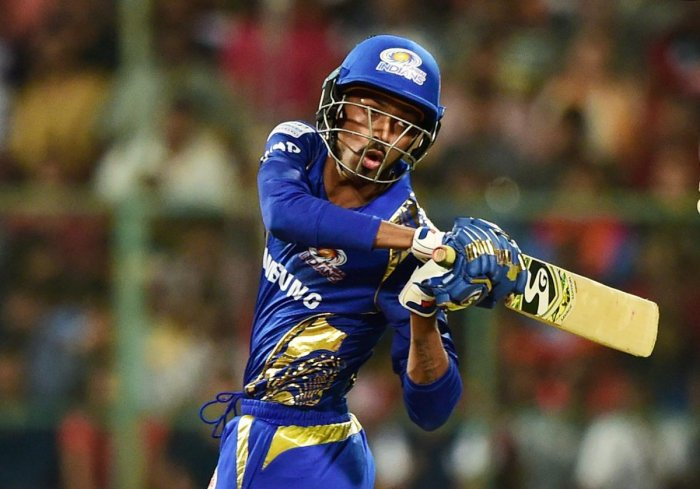 TOUGH TIMES Hardik Pandya got back to form against RCB in their last game and Mumbai Indians would hope for the all-rounder to fire again. PTI