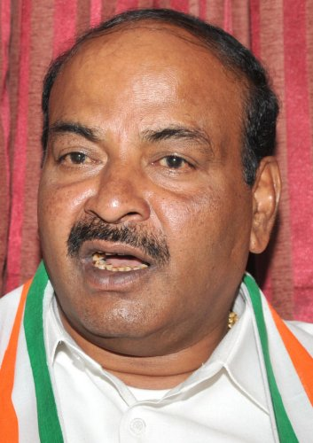 Chickpet congress candidate R V Devraj. Photo Srikanta Sharma R.Chickpet