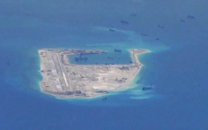 The Chinese army-installed anti-ship and air-to-air defences on outposts also claimed by Vietnam and the Philippines over the last 30 days. Reuters File photo
