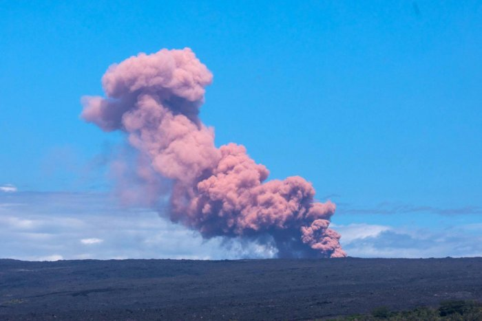 An ash cloud rises above Kilauea Volcano after it erupted, on Hawaii's Big Island. Reuters Photo