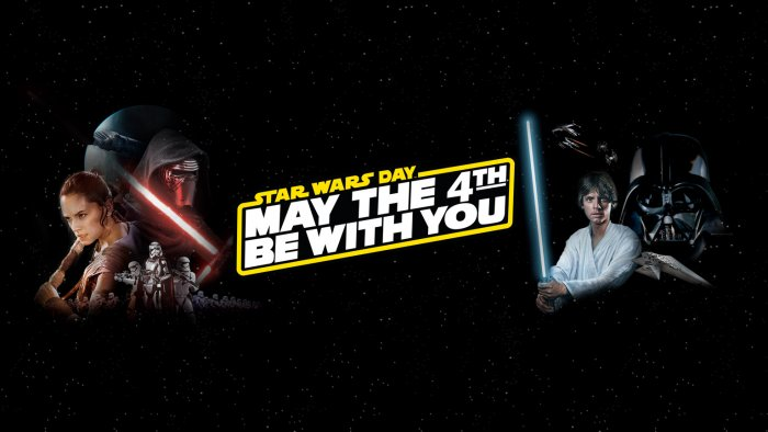 The poster of Star Wars Day - May The 4th Be With You. (Courtesy: https://www.starwars.com)