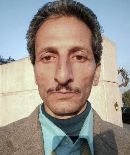 File photo of Vijay Singh who is accused of shooting dead officer Shail Bala Sharmauli town, where Sharma had gone to supervise the demolition of unauthorised construction, in Kasauli on Thursday. Singh was nabbed today by police from the Mathura-Vrindava