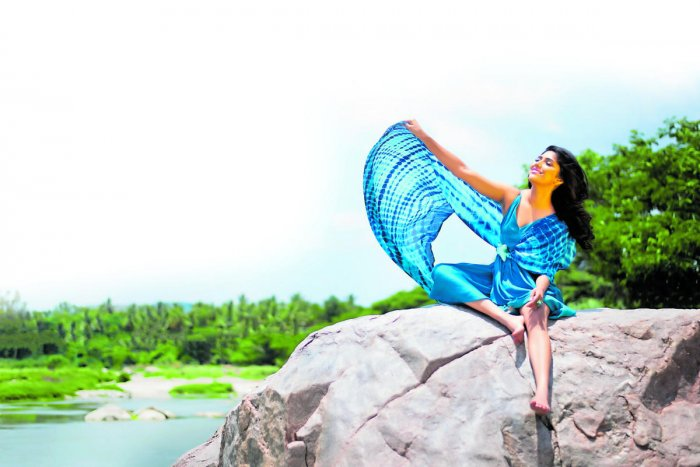 Samyukta has posed for pictures to depict elements like fire, air, water and earth.