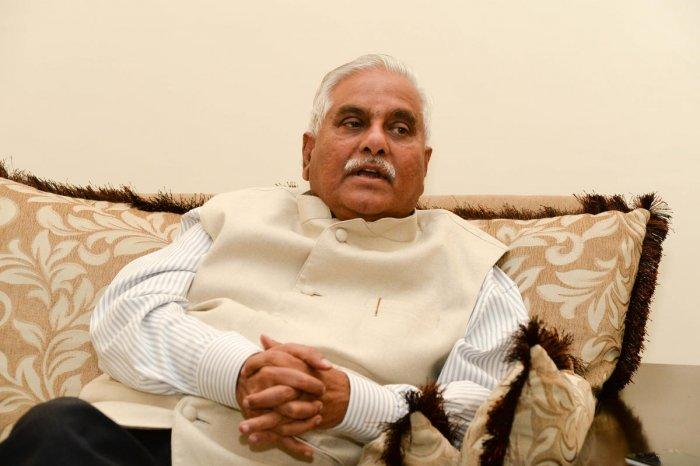 Retired Justice V Gopalagowda. Photo By/ Satish Badiger