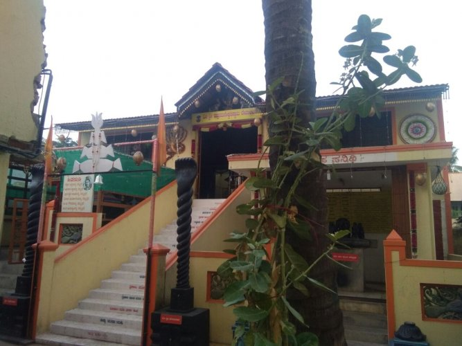 The house in Ullal, Kengeri, where Mahalingeshwar and his family live.