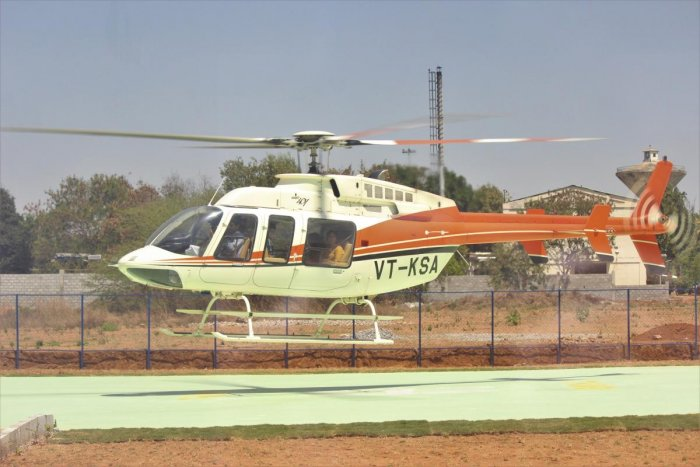 The helitaxi service which was launched on March 5, has flown 335 passengers from Kempegowda International Airport to Electronics City till now.