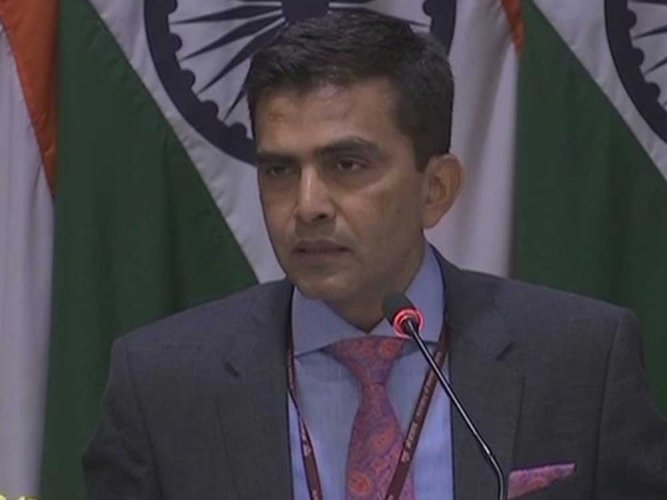 Ministry of External Affairs Spokesperson Raveesh Kumar said India has always been maintaining that the Iranian nuclear issue should be resolved peacefully through dialogue and diplomacy.   ANI file photo