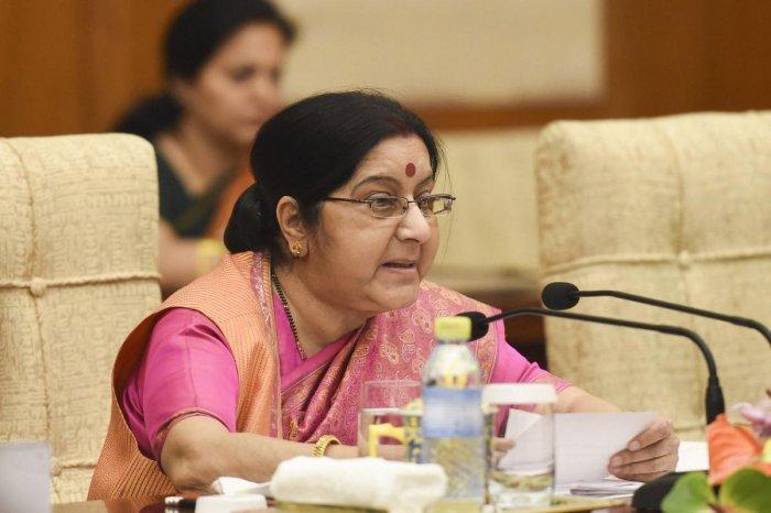 Indian Foreign Minister Sushma Swaraj. PTI Photo