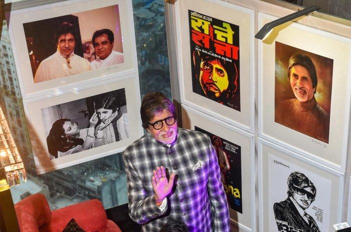 Veteran actor Amitabh Bachchan visits an exhibition by photographer Pradeep Chandra in Mumbai on Wednesday. PTI Photo