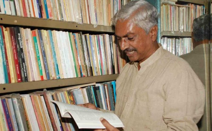 In picture: Kannada critic Dr.Giraddi Govindraj. DH Photo.