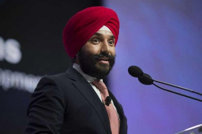 Navdeep Bains, Canada's Minister of Innovation, Science and Economic Development, described the incident in an interview with the French-language paper La Presse yesterday. Image Courtesy: Twitter