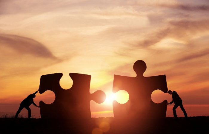 To make a partnership work, there has to be mutual trust and respect.