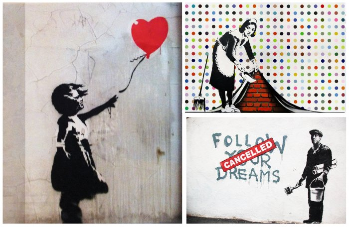 Some of Banksy's works