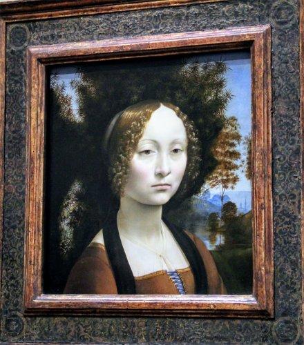 Ginevra de' Benci, often referred to as Washington's own Mona Lisa.