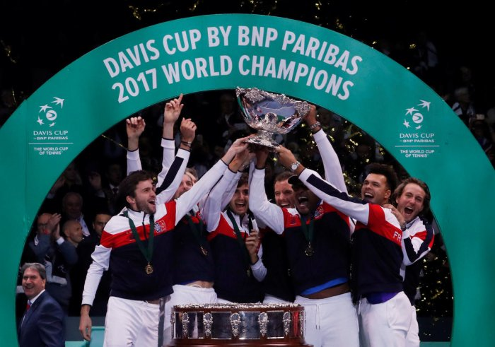 France won the Davis Cup title last year beating Belgium 3-2. REUTERS