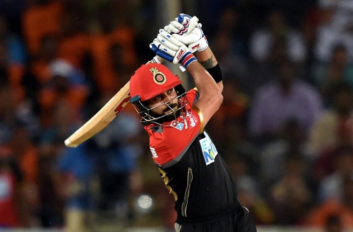Royal Challengers Bangalore's Virat Kohli plays a shot during IPL match. PTI file photo