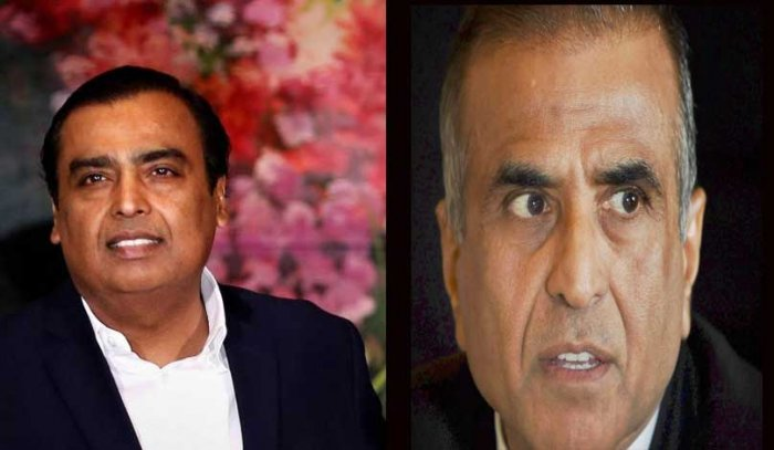 Mukesh Ambani and Sunil Mittal