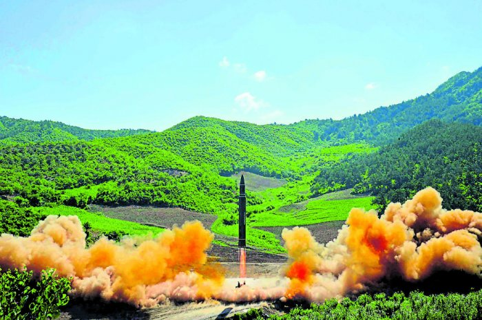 The nuclear test on September 3, 2017, took place under Mt Mantap at the Punggye-ri nuclear test site in the country's north, rocking the area like a 5.2-magnitude earthquake, according to the study published in the journal Science. File photo