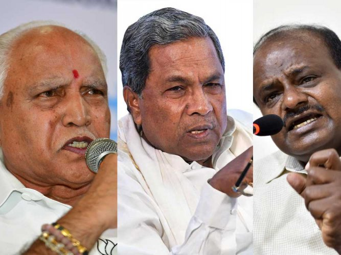 Several exit polls have predicted a hung Assembly and said former prime minister H D Deve Gowda's JD(S) would play the role of the kingmaker.