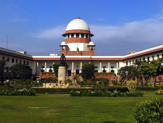 A bench of Justices Arun Mishra and U U Lalit allowed an appeal by Sunil H B, then sub-inspector at the Kaggalipura police station, but cautioned him to be careful in future. DH File Photo