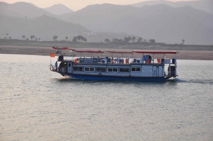 A boat carrying at least 50 passengers capsized in the Godavari river on Tuesday due to inclement weather.