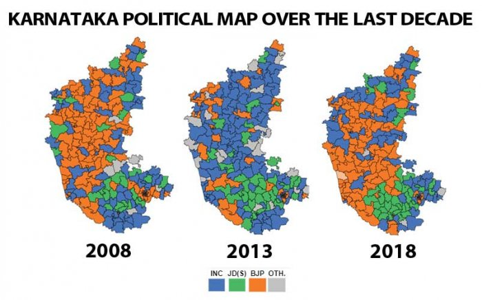 This graphic traces the changes in the state over the last decade through three election cycles. (DH Graphic)