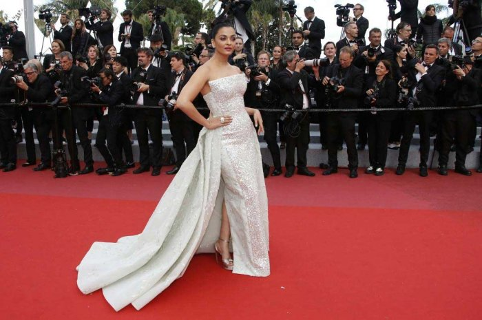"""71st Cannes Film Festival - Screening of the film """"Sink or Swim"""" (Le grand bain) out of competition - Red Carpet Arrivals - Cannes, France, May 13, 2018 - Aishwarya Rai arrives. REUTERS"""