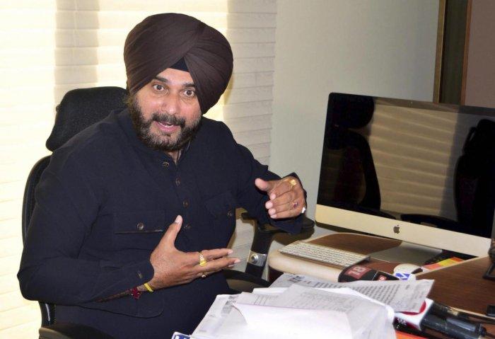 Punjab Cabinet Minister Navjot Singh Sidhu. PTI